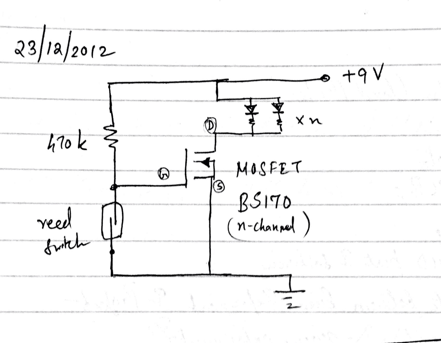 Automatic Lights For Desk Interior Schematic With The Below Something Which Lit Up A Few Strips Of Leds Using Magnet Stuck To Side Door Switch Transistor On Off