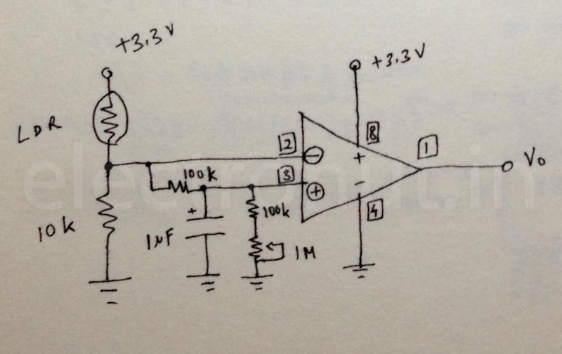 Designing an Op-Amp Circuit to Detect LDR Pulses