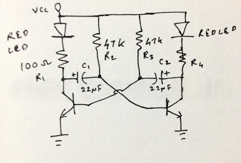 Nostalgia: A Two Transistor LED Flasher Circuit