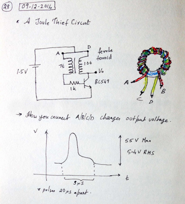 A Joule Thief Circuit