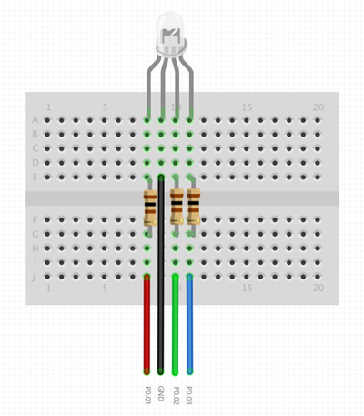 nRF51-RGB-LED-CIRCUIT